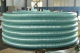 "Boyau transparent clair industriel en plastique 2 d'aspiration de boyau de ressort de fil d'acier de PVC """