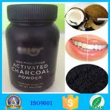 Уголь раковины кокоса забеливая пипермент порошка зуба