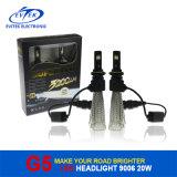 Farol do diodo emissor de luz da ampola 20W do diodo emissor de luz 2600lm 9006 auto, bulbos do farol do diodo emissor de luz