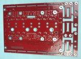 PWB-Tarjeta de la capa doble con el rojo Soldermask del oro de la inmersión
