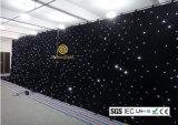 tissu d'étoile du blanc DEL de 4m * de 6m pour l'exposition de contexte d'Evnets d'étape de mariage