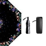 Зонтик солнечного и ненастного черного солнцезащитный крем хорошего качества покрытия складывая