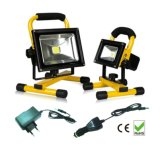 CER RoHS Waterproof 5hrs Portable Rechargeable 20W LED Flood Light