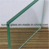 6.38-12.76mm закалили ясно подкрашиванное прокатанное стекло