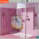 シャワーのためのか浴室または壁またはSGCC/Ce&CCC&ISOの3-19mmデジタルのペンキのシルクスクリーンプリントまたは酸の腐食パターン安全和らげられたか、または強くされたガラス