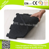 1000 * 1000 * 20mm Negro puro Gimnasio Rubber Flooring Mats