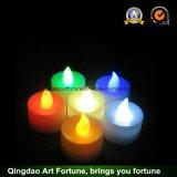 Las velas sin humo del LED Tealight para la boda/el partido calientan blanco