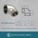 Jianzhi Marke Galvanized&Black formbares Eisen-Rohrfittings der Krümmer 90r, verringernd