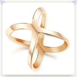 Anillo de dedo de la joyería del acero inoxidable de la joyería de la manera (SR849)