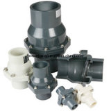 """Plástico UPVC Válvula de retención oscilante (DN20-DN150 - 3/4 """"- 6"""")"""