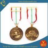 Medalha de bronze antiga feita sob encomenda velha da honra da concessão da venda quente