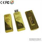 De gouden Schijf van de Flits van het Metaal USB van de Staaf