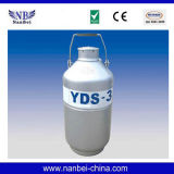 Envase del nitrógeno líquido del tanque de almacenaje criogénico pequeño