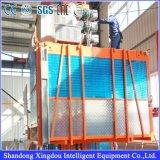 Elevador da grua da construção para construir com capacidade MEADOS DE gaiola dobro ou única de 1000kg da velocidade