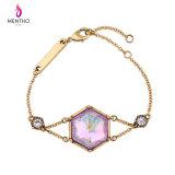 Bracelete luxuoso Diamante-Enchido barato Multi-Layer quente da fêmea da liga da venda