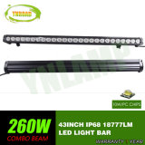 램프 LED 표시등 막대를 몰아 43inch 260W IP68 크리 말 LEDs