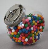 Piccolo vaso dell'alimento con il coperchio del metallo
