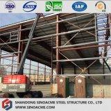 Vor ausgeführter Stahlrahmen für Werkstatt-Aufbau