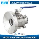 Válvula de esfera de tubo de aço inoxidável ampliada