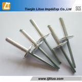 Стальная алюминиевая односторонняя клепка цвета нержавеющей стали DIN7337