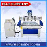 Prijs 1325 van de fabriek CNC van 4 As Router, Multi-Spindle Snijdende CNC Machine, de Houtbewerking van de Lijst van de Router