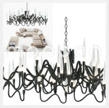 Modern Italian Iron Metal Art Noble Lily G4 Chandelier LED para sala de estar