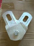 Polea de acero plateada cinc del cable de la sola polea acanalada de nylon