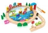 40PCS удя игрушку  деревянного поезда установленную для малышей и детей
