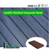 Decking plástico de madeira tampado superfície do sólido do composto WPC do escudo de 1mm