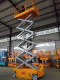 4m autopropulsada de tijera eléctrica hidráulica de elevación