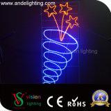 Weihnachtsstraßen-dekorative Stern-Pole eingehangene Motiv-Lichter
