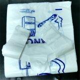 HDPE 롤에 백색 색깔 t-셔츠 조끼 부대