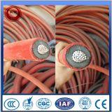 XLPE a isolé le câble d'alimentation moyen blindé de tension d'écran métallique engainé par PVC