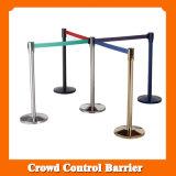 Ligne escamotable stand Pôle de file d'attente de barrière de montants de courroie de corde