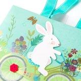 아기 부활절 쇼핑 선물 종이 봉지 운반대 부대 토끼 선물 부대