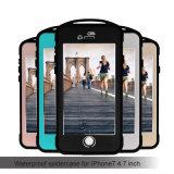Противоударное водоустойчивое iPhone 7/7s аргументы за металла конструкции спайдера черни/мобильного телефона