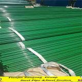 Tubulação de aço revestida galvanizada do plástico exterior da cor verde