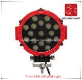 Luz del coche del LED 7 de la luz del trabajo de la pulgada 51W LED para el coche LED de SUV de la luz del camino y de la luz de conducción