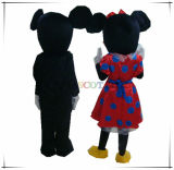 Traje da mascote do personagem de banda desenhada do rato de Mickey&Minnie