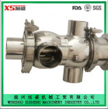 Válvula pneumática sanitária de Mixproof do aço Dn50 inoxidável com corpo de válvula de uma peça só
