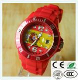 カスタム熱い販売のシリコーンの腕時計