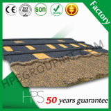 Tuiles de toiture enduites en métal de vente de l'Afrique de toiture de matériau de pierre colorée chaude de mode