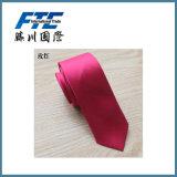 Relation étroite en soie faite sur commande de proue de cravate rayée noire classique en gros de relation étroite