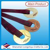 Évider à l'extérieur les médailles de la médaille de bronze d'argent d'or de natation de récompense 3D/2D