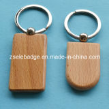 Wooden vermelho Keychain com Lacqure Coating para Promotion (Ele-K067)