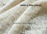 Sheer Lace Pink Cream Branco Algodão Janelas Cortinas Tela de estofamento