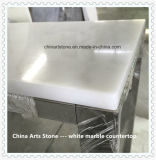 Marbre de blanc chinois pour le bureau rond ou de rectangle de restaurant