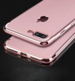 Chapeamento desobstruído ultra fino do luxo que galvaniza a caixa macia de TPU para o iPhone 7 caixas do telefone da tampa do caso (XSDD-082)