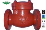 O ferro de molde flangeou válvula de verificação do balanço