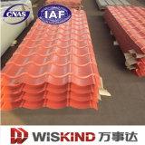 Materiale da costruzione galvanizzato ondulato del tetto d'acciaio